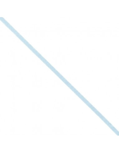 Ruban de Satin double face 6mm Bleu ciel