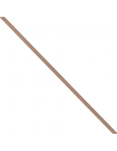 Ruban de Satin double face 6mm Marron glacé