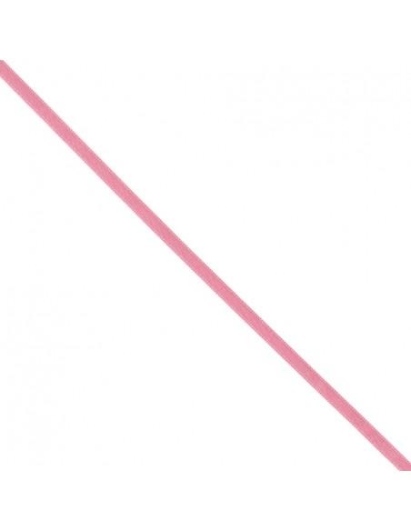 Ruban de Satin double face 6mm Rose dragée