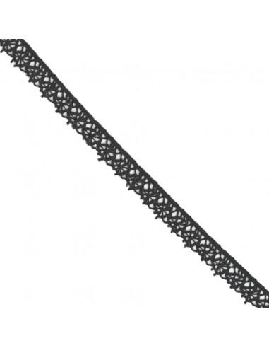 Dentelle polyester 15mm Noir