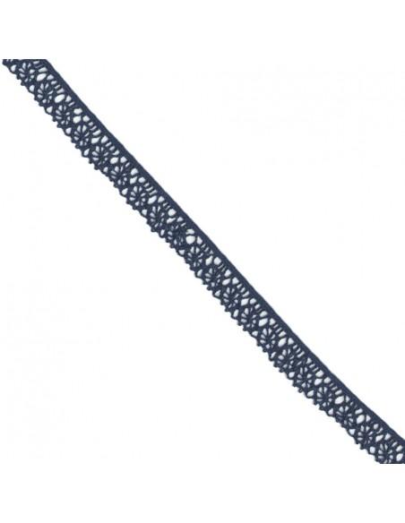 Dentelle polyester 15mm Bleu marine