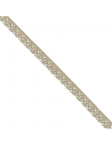 Dentelle polyester 15mm Beige
