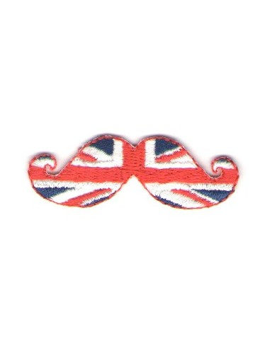 Thermo badge Moustache anglaise