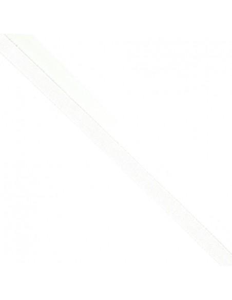 Ruban Sergé en coton 11mm Blanc