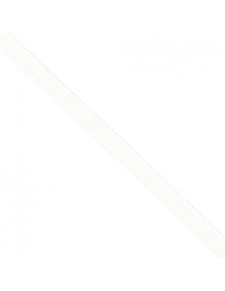 Ruban Sergé en coton 14mm Blanc