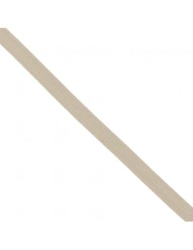 Ruban Sergé en coton 14mm Lin