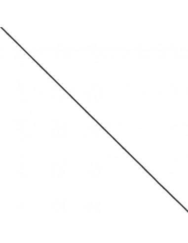 Elastique Rond Chapeau 1mm Noir