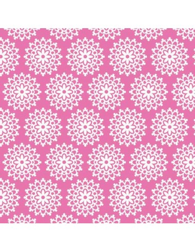 Tissu en coton Collection Lovey Dovey  - Lovey Lace - Pink