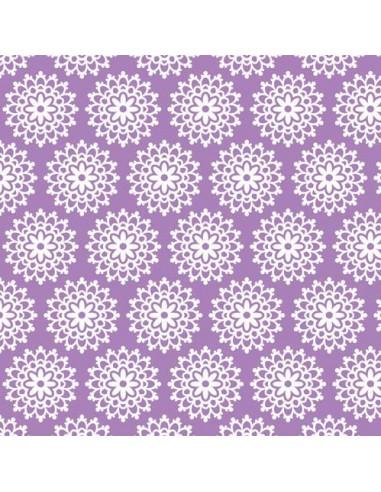 Tissu en coton Collection Lovey Dovey  - Lovey Lace - Purple