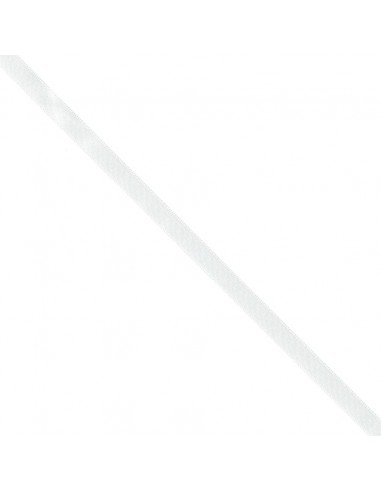 Ruban de Satin double face 10mm Blanc