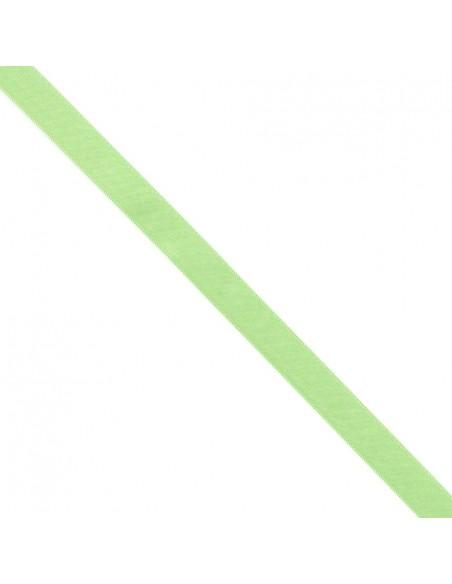 Ruban de Satin double face 15mm Vert printemps