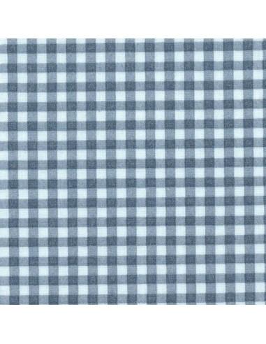 Tissu en coton léger Vichy Ciel-Marine