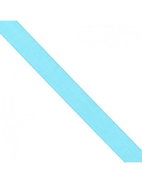 Ruban de Mousseline 25mm Bleu turquoise