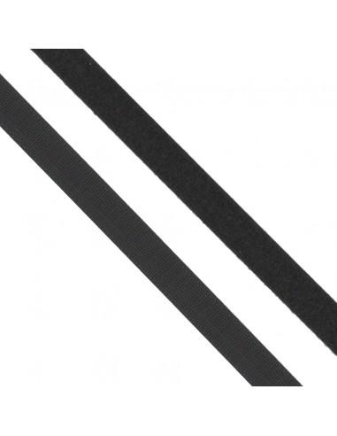 Ruban auto-agrippant à coudre 20mm Noir