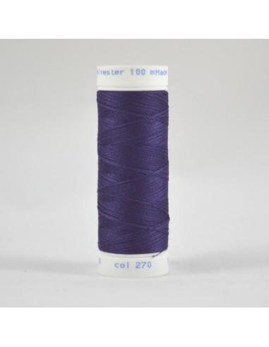 Bobine de 100m de fil à coudre Polyester Pétunia