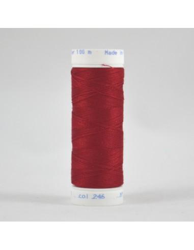 Bobine de 100m de fil à coudre Polyester Rouge cardinal