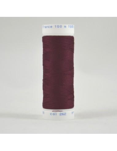 Bobine de 100m de fil à coudre Polyester Brun rouge