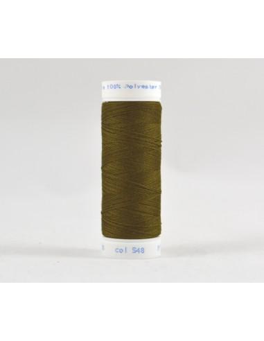 Bobine de 100m de fil à coudre Polyester Vert kaki
