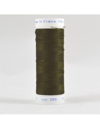 Bobine de 100m de fil à coudre Polyester Algue