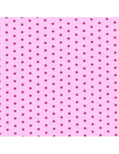 Tissu en coton léger coloris Dragée à pois Fushia