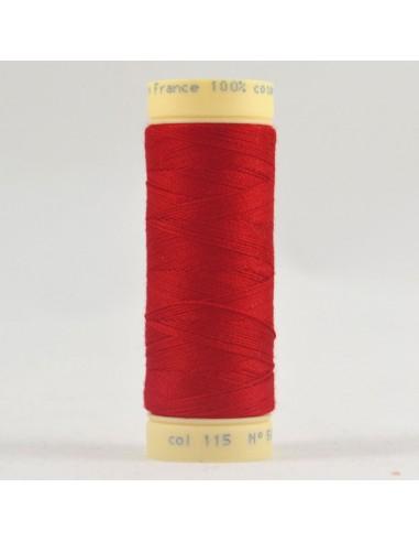 Bobine de 90m de fil à coudre Coton Cerise