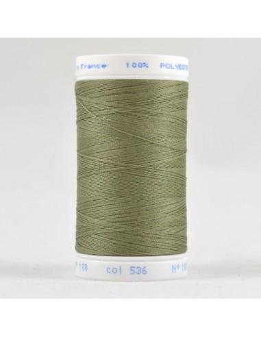 Bobine de 500m de fil à coudre Polyester Jade