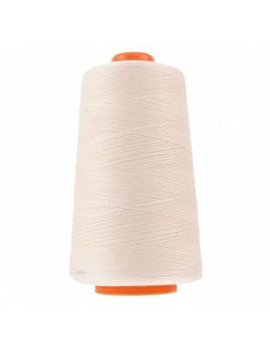 Cône de 3000m de fil à coudre Polyester Vanille