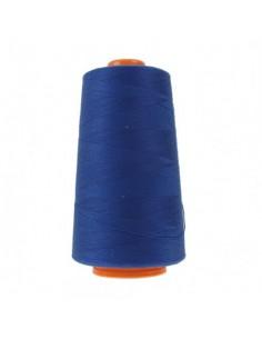 Cône de 3000m de fil à coudre Polyester Bleu roi