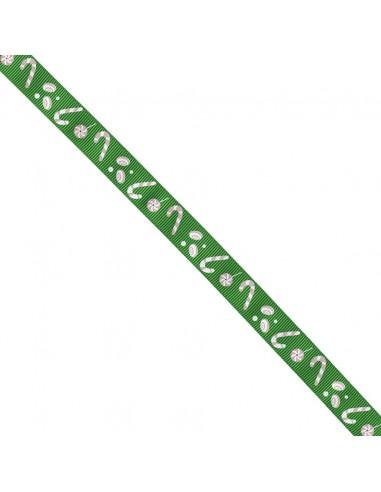 Ruban Gros grain Hansel et Gretel - Candy cane - Vert