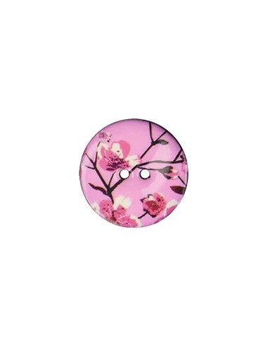 Bouton Coco décoré 23mm Sakura