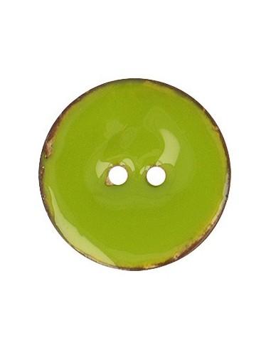 Bouton Coco vernis 23mm Vert