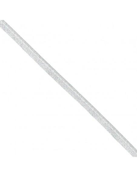 Passepoil Lurex 10mm Argenté