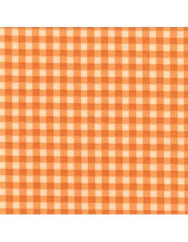 Tissu en coton léger Vichy Mandarine-Chair