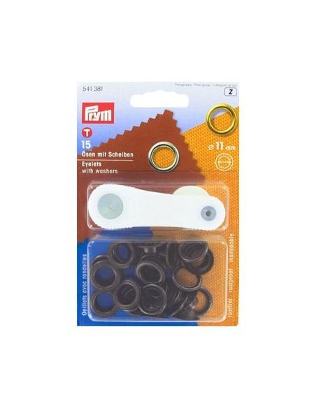 Oeillets avec rondelles 11mm Bruni