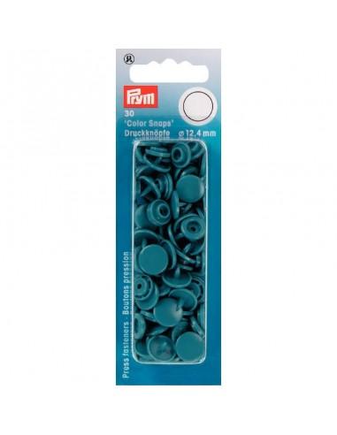Boutons Pression Rond Color Snaps 12,4mm - Turquoise foncé