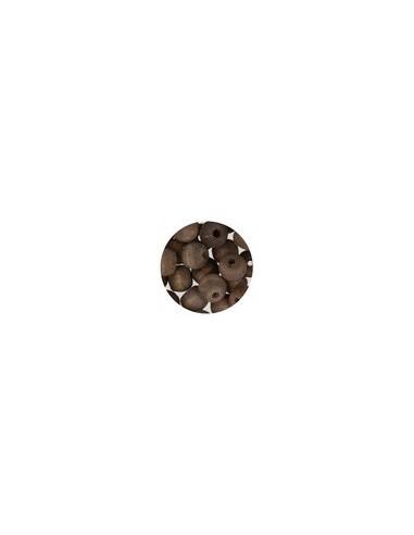 Perles en bois - Lot de 45 pièces - Lin foncé