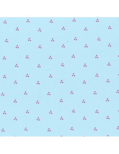 Tissu en coton I Love Couture Fushia motif 511
