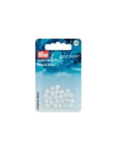 Décors Ronds thermocollant 6mm Blanc - 24 pièces