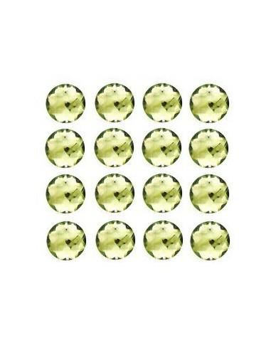 Strass à coudre Vert clair 12mm - 16 pièces