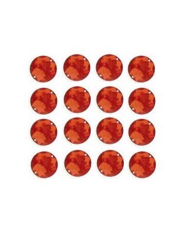 Strass à coudre Rouge 12mm - 16 pièces
