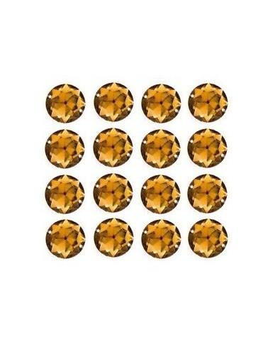 Strass à coudre Brun 12mm - 16 pièces