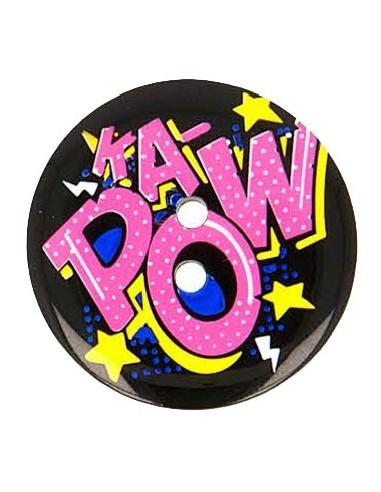 Bouton Pop Art 28mm KAPOW