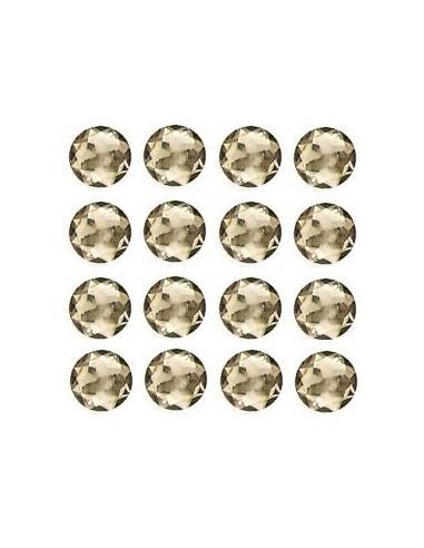 Strass à coudre Gris 12mm - 16 pièces