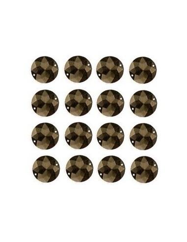 Strass à coudre Noir 12mm - 16 pièces