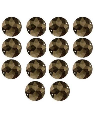 Strass à coudre Noir 18mm - 14 pièces