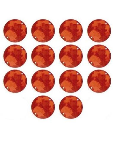 Strass à coudre Rouge 18mm - 14 pièces