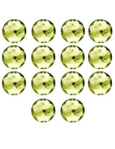 Strass à coudre Vert clair 18mm - 14 pièces