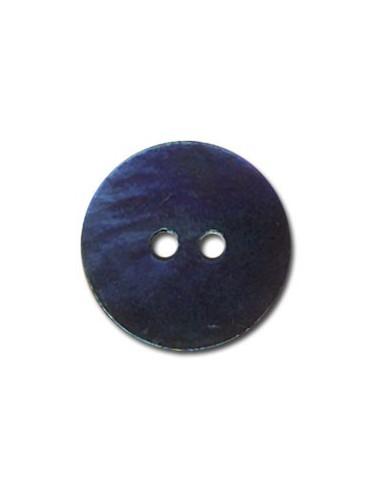 Bouton Rond en Nacre 18mm Bleu marine