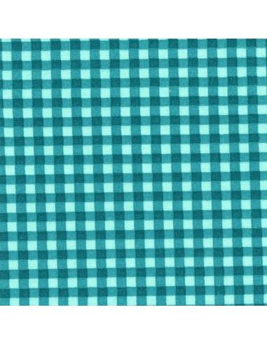 Tissu en coton léger Vichy Lagon-Canard