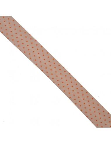 Biais coton 20mm Chair à Pois Mandarine